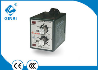 China Fans Single Phase Voltage Monitoring Relay , Phase Loss Monitor Relay with knob supplier