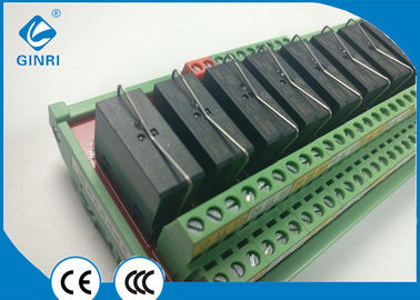 China 24 Volt PLC Din Rail Relay Module Special Circuit For Self Anti Interference supplier