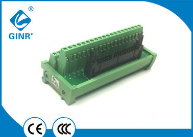 DIN Rail Mount IDC Breakout Board 40P Male Header Connector 0.1 Inch Pitch