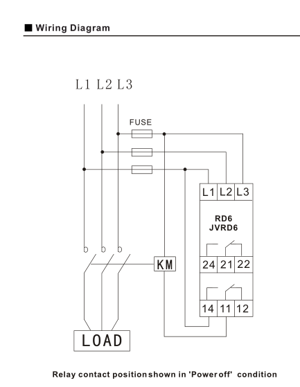 Wiring Diagram For Phase Failure Relay